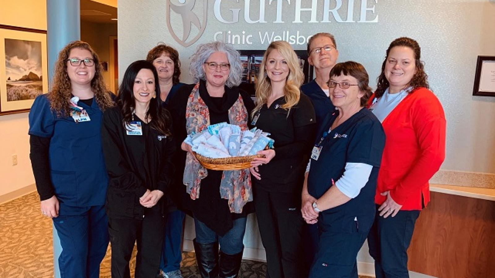 Guthrie Wellsboro Donates Blankets to Local Charity for Treatment of NAS Infants
