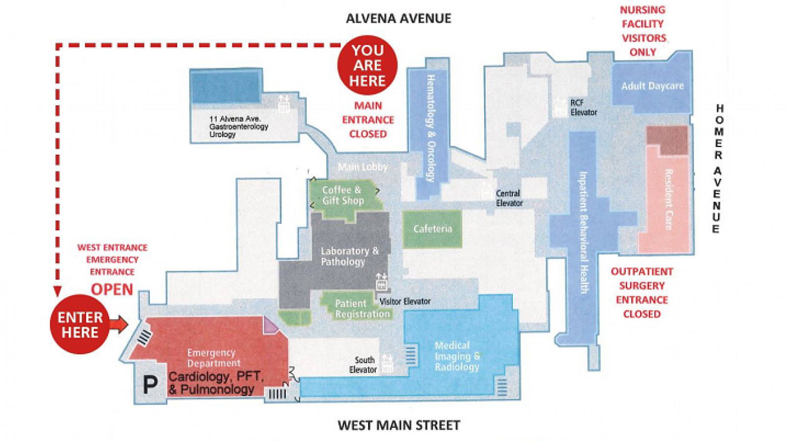 Map of new entrance