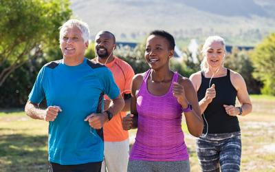 Walking with friends can jumpstart your physical fitness.