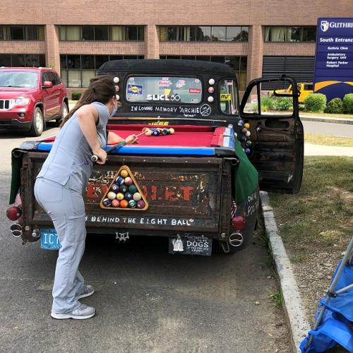 "Guthrie Patient Thanks Staff with Visit from ""Cue Ball Truck"""