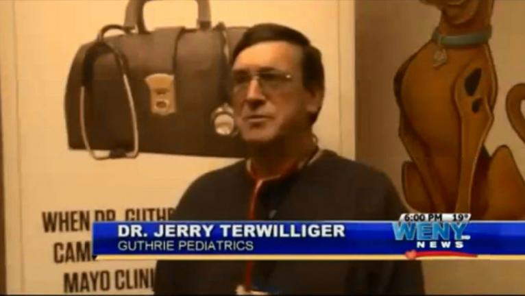 Dr. Terwilliger appears on WENY on Measles